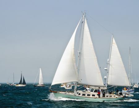 sailboats off nantucket