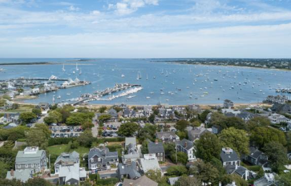 Nantucket Town and Harbor