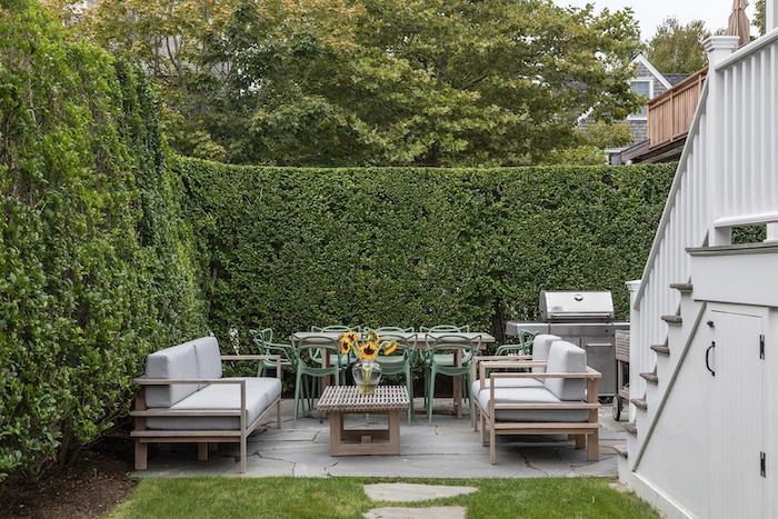 nantucket rental home patio